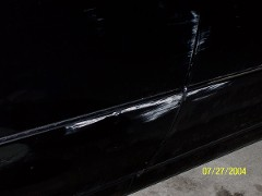 charae's lexus was scraped at her office