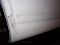 scraped passenger side of van #2